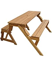 Merry Products Garden Interchangeable Picnic Table and Garden Bench