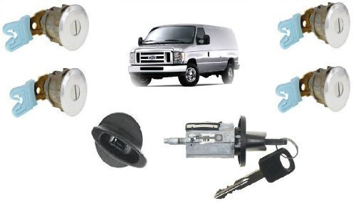Switch Wagon - Ford Econoline Van (E150~E250~E350) Keyed Door Locks & Keyed Ignition Switch Cylinder Lock Set For Cargo & Club Wagon Passenger Van 1997-2012