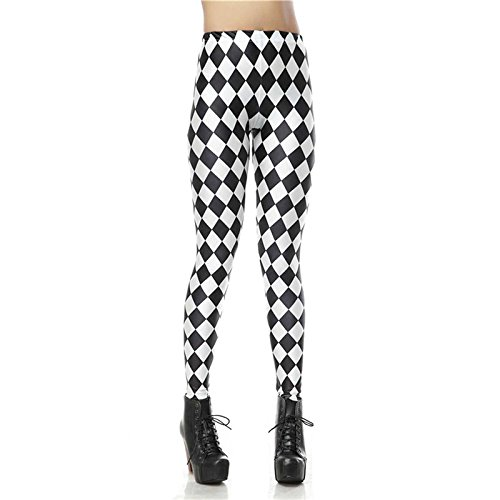 Amazon.com : MAYUAN520 Leggins Sexy Legging Black White ...