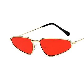 iShinê Gafas de Sol de Marco pequeño Ojo de Gato Gota de ...