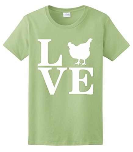 Barnyard Animal Chickens Ladies T Shirt