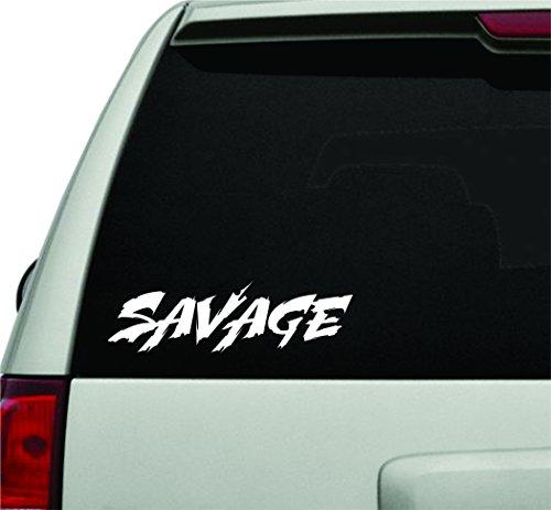 Dabbledown Decals Savage Small Version Car Window Windshield Lettering Decal Sticker Decals Stickers Girl JDM - Savage Sticker