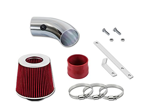 Pontiac Ram Air - Velocity Concepts Red Short Ram Air Intake Kit + Filter 00-05 Pontiac Bonneville All Models with 3.8L V6