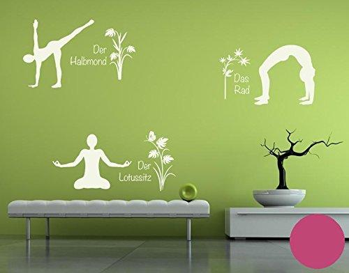 Klebefieber Wandtattoo Yoga Figuren Set 4 B x x x H  110cm x 170cm Farbe  Creme B071HH372P Wandtattoos & Wandbilder e8e920