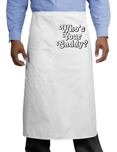 Who's Your Caddy Adult Bistro Apron - White - One-Size