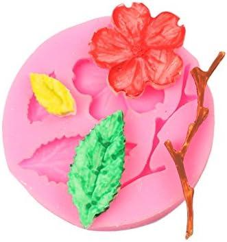 枝花形シリコーンモールド - 枝の花の形チョコレート型 - 枝の花の形ベーキング型 - 1個