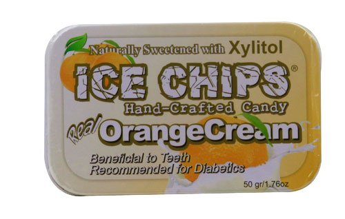 Ice Chips Hand Crafted Candy Tin Orange Cream -- 1.76 oz