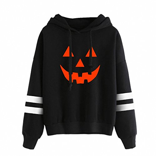 Halloween Hoodies Sweatshirts NEW Autumn Winter Long Sleeve Loose Tracksuit at Amazon Womens Clothing store: