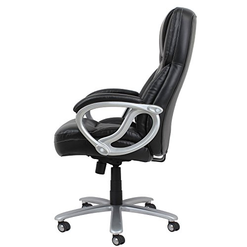 Ofm big leather executive office chair home and office for Home office chairs leather