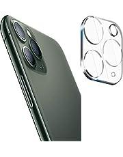 واقي شاشة لعدسة الكاميرا لهاتف iPhone 11 Pro Max، حافظة حماية خلفية معدنية شفافة لهاتف iPhone 11 Pro