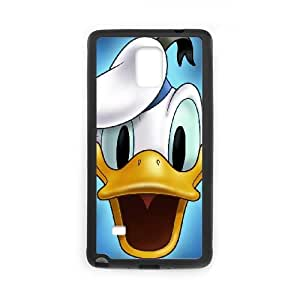 Donald Duck Samsung Galaxy Note 4 Cell Phone Case Black Transparent Protective Back Cover 1185