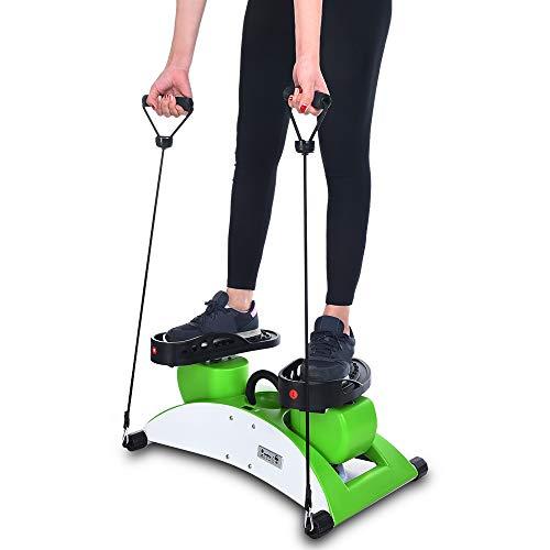 callm Silent Rotary Stepper Exercise Machine Home Multi-Function Dance Machine Twisting Machine Fitness Equipment (Green)