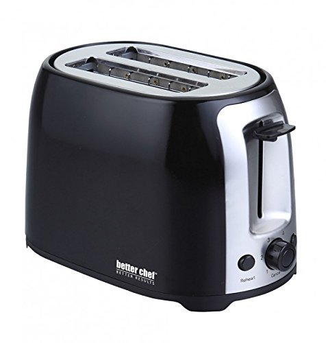 2 Slice Cool Touch Wide-Slot Toaster Color: Black