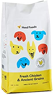 Heed Foods - Dried Dog Food | Fresh Chicken and Ancient Grains Kibble | All Natural, Digestive Health, Sensiti