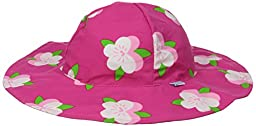 i play. Baby Girls\' Brim Sun Protection Hat, Fuchsia Flower, 9-18 Months