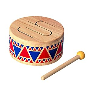 PlanToys Solid Drum Wooden Musical Toy Instrument (6404)