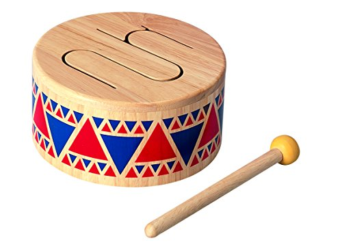 PlanToys Solid Drum Wooden Musical Toy Instrument