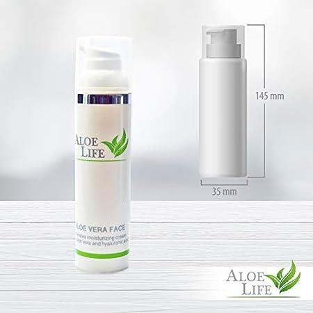 AloeLife Cosmetics Crema Facial – Hidratante, con Ácido Hialurónico, Aloe Vera en Gel, Manteca de Karité y Aceite de Macadamia