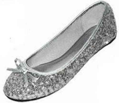 New Womens Sequins Ballerina Ballet Flats Shoes 4 Colors Available (7/8, Silver Sequins 2001)