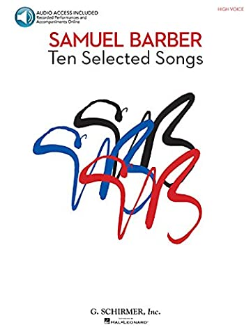 Samuel Barber - 10 Selected Songs: High Voice, Book/Audio - Broadway Classical Sheet Music