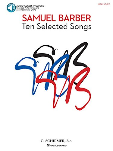 (Samuel Barber - 10 Selected Songs: High Voice, Book/Audio)
