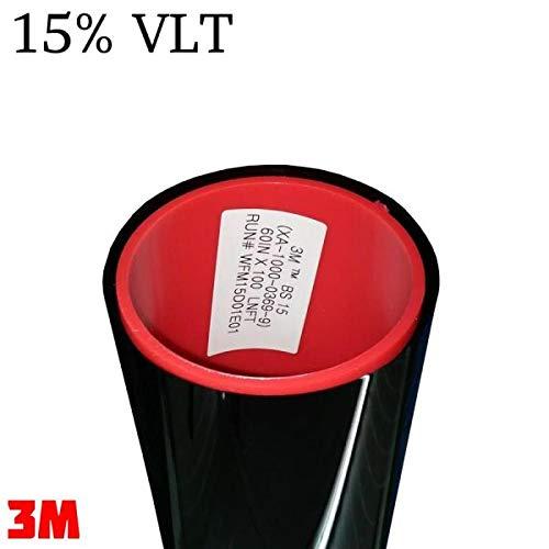 StickersLab 15/%, 76 cm x 3 metri StickersLab Pellicola omologata ABG oscuramento Vetri Auto serie Black Shade
