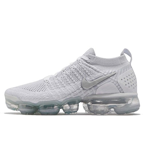 NIKE Women's WMNS Air Vapormax Flyknit 2, White/White-VAST Grey, 8 US