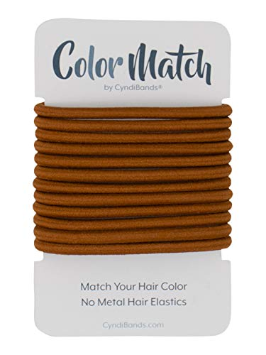 - Copper Orange Color Match for Redheads No-Metal 4mm Elastic Hair Ties Ponytail Holders - 12 Count (Copper Dark Orange)