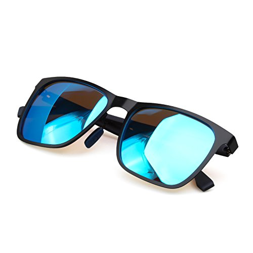 Polarized Sunglasses For Men Metal Frame Carbon Fibre Arm Light Weight Reliable Fashion Glassess,Blue - Sun Glassess