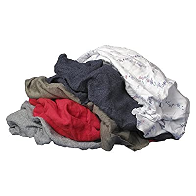 Buffalo Industries (10085PB) Recycled Multicolored T-Shirt Cloth Rags - 50 lb. bag: Automotive