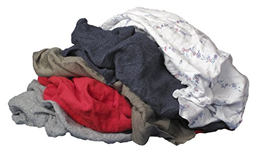 Buffalo Industries (10080PB) Recycled Multicolored T-Shirt Cloth Rags - 4 lb. bag Paint Rags