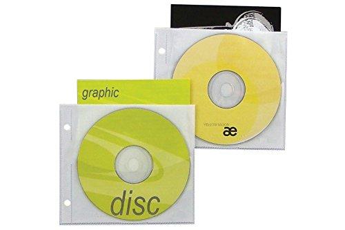 Jewelpak™ CD/DVD Page, 5.625'' x 5'', 3.13'' Hole Spacing - Box of 1000