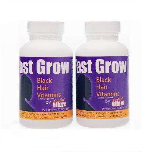 Croissance rapide ethnique croissance des cheveux vitamines (2 bouteilles) pour accélérer la croissance des cheveux