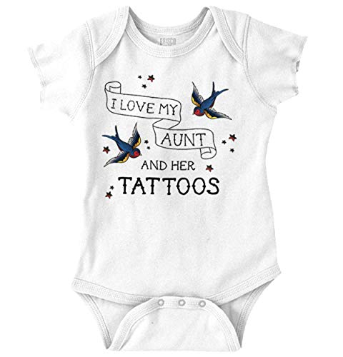 I Love My Aunts Tattoos Cool Inked Auntie Romper Bodysuit White