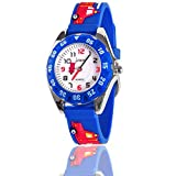 3-12 Year Old Boys Gifts, Ouwen Unique Design 3D Cute Cartoon Kids Waterproof Watch Hot Great Popular Best Toys for 3-12 Year Old Boys Birthday Christmas Gifts for Boys Age 2-10 Blue OWUSWC04