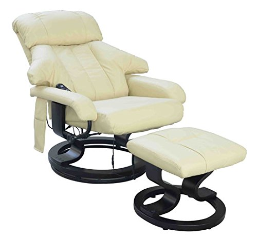 HOMCOM Luxury Fuax leather Chair Recliner Electric Massage Chair Sofa 10...