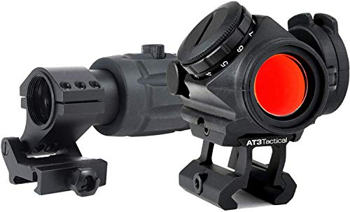 AT3 Tactical RD-50 Red Dot Sight + 3X RRDM Red