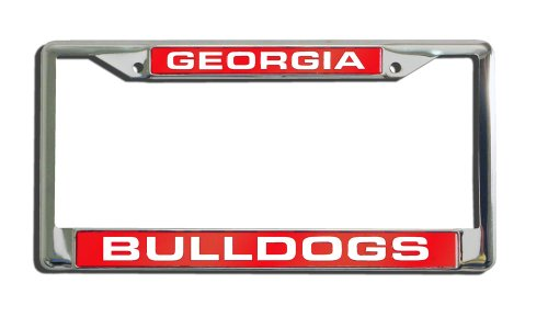 NCAA Georgia Bulldogs Laser Cut Chrome Plate Frame