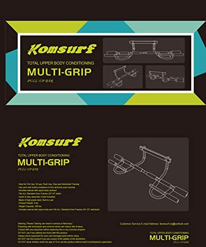 Komsurf Pull up Bar for Doorway, Door Pullup Chin up Bar Home, Multifunctional Portable Dip bar Fitness, Exercise Equipment Body Gym System No Screws Trainer 6