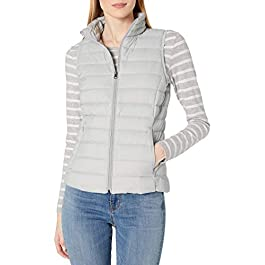 Amazon Essentials Women's Standard Lightweight Water-Resistant Packable Down Vest