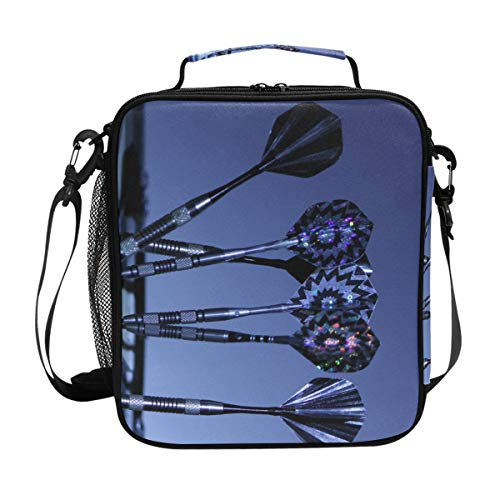 FAJRO Color Crystal Darts Lunch Tote Bag Insulated Thermal Cooler Lunch Bag ()