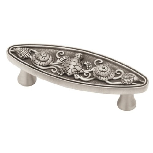 Liberty PBF663 BSP C 3 Inch Seaside Oval Kitchen Or Furniture Cabinet  Hardware Drawer Handle Pull, Brushed Satin Pewter