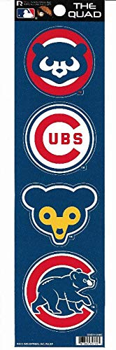 Rico Industries Chicago Cubs Quad Decal Set ()