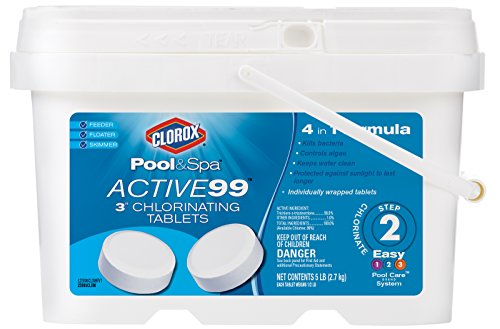 CLOROX Pool&Spa 22005CLXW Active99 3'' Chlorinating Tablets by CLOROX Pool&Spa