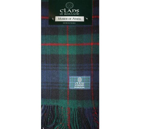 (Murray of Atholl Modern Tartan Clan Scarf 100% Soft Lambswool)