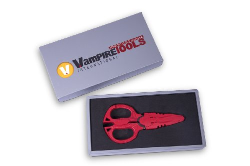 (VamPLIERS VT-011 Super Combo Scissors Best Shears 4-in-1 Multi-Purpose Compact design Slice through copper wire Stainless Steel blades/shear leather/slice Nylon Rope/Best Gift (Gift Set Box))