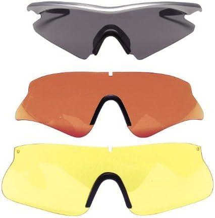 Gafas de BERETTA Para Disparar, Protección para los Ojos con 3 Lentes Intercambiables para Usar en Diferentes Situaciones de Campo, Merluza Ajustable, Estuche Incluido, Nuevo Marco de Beretta