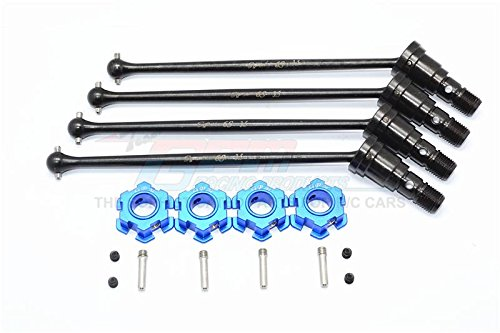 Harden Steel #45 Front And Rear CVD Drive Shaft With Aluminum Hex For Traxxas X-Maxx 6S - 2Prs Set ()