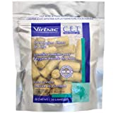 Virbac C.E.T. Enzymatic Oral Hygiene Chews for Cats - Fish Flavor - 30 Count
