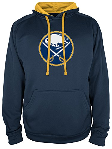 NHL Buffalo Sabres National Hockey League Hooded Pullover, X-Large, Sports Navy (Buffalo Sabres Pullover)